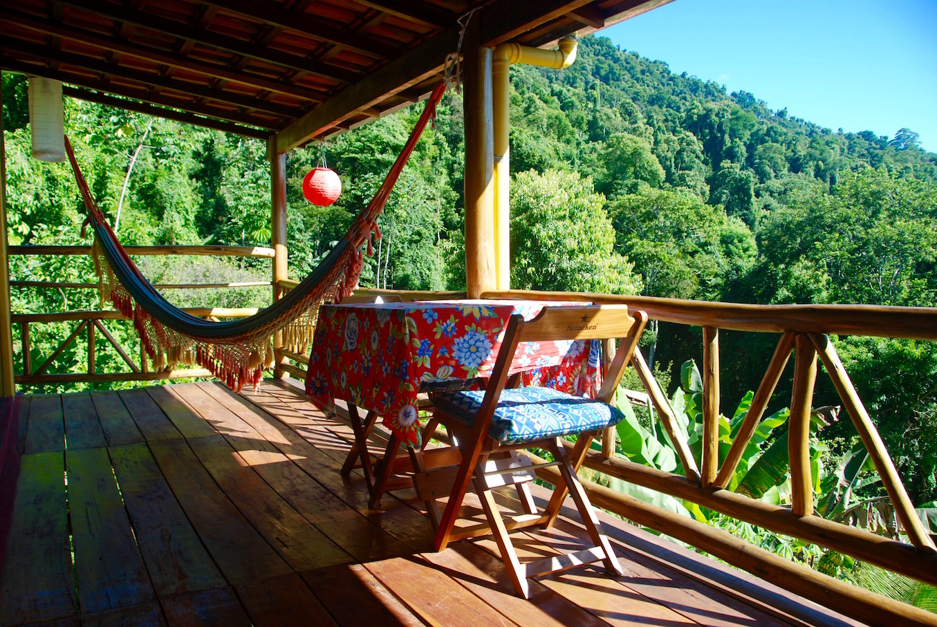Chalet Amarelo - the balcony