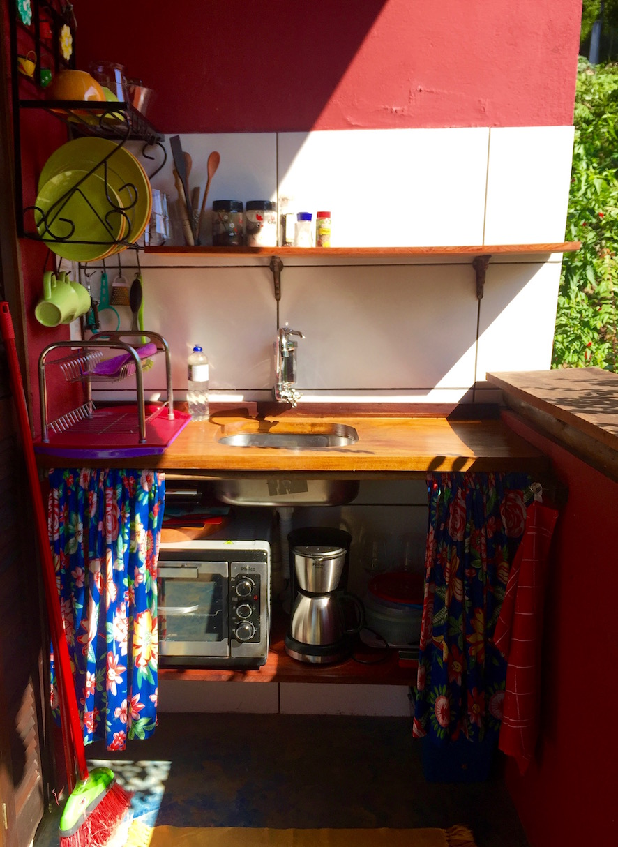 Chalé Vermelho - the outdoor kitchen